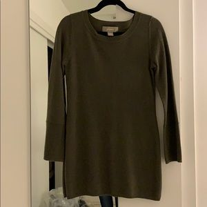 Ply cashmere olive green cashmere sweater, S